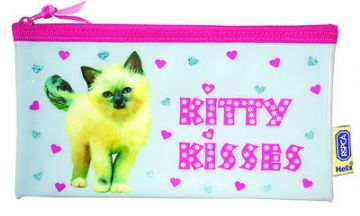 "PENCIL CASE ""KITTY KISSES"" by Helix"